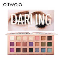 O.TWO.O darling eyeshadow paletes 21 cores ultra fino pó pigmentado sombras brilho shimmer maquiagem paleta de sombra de olho