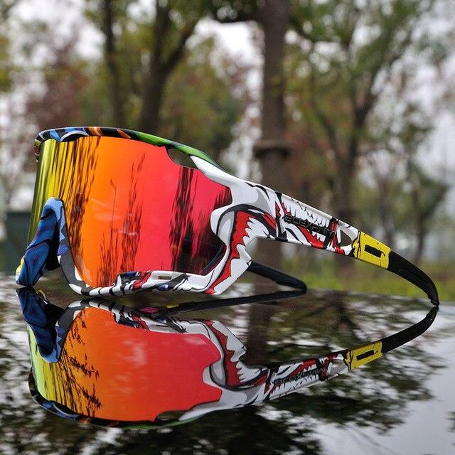 4 objektiv Polarisierte Gläser Radfahren Im Freien Sport Radfahren Brille Mountainbike Radfahren Brillen Männer UV400 Bike Zyklus Sonnenbrille