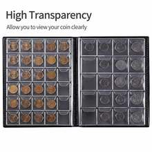 250 bolsos coleção de moedas coleta dinheiro organizador álbum livro para colecionador titular da moeda álbuns mini moeda penny saco de armazenamento