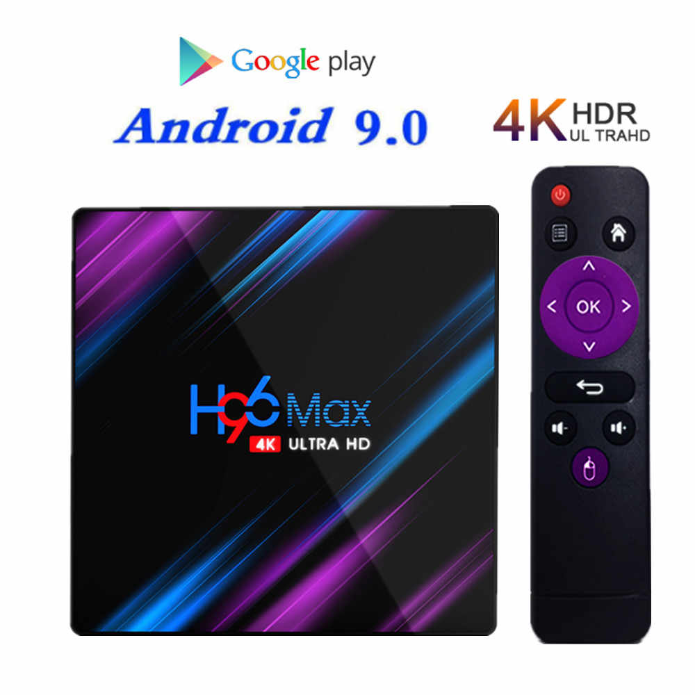RK3318 Android 9.0 TV Box 2GB 16GB Media player 4K Google Assistente Vocale Netflix Youtube h96MAX con Trasporto 3 mesi iptv