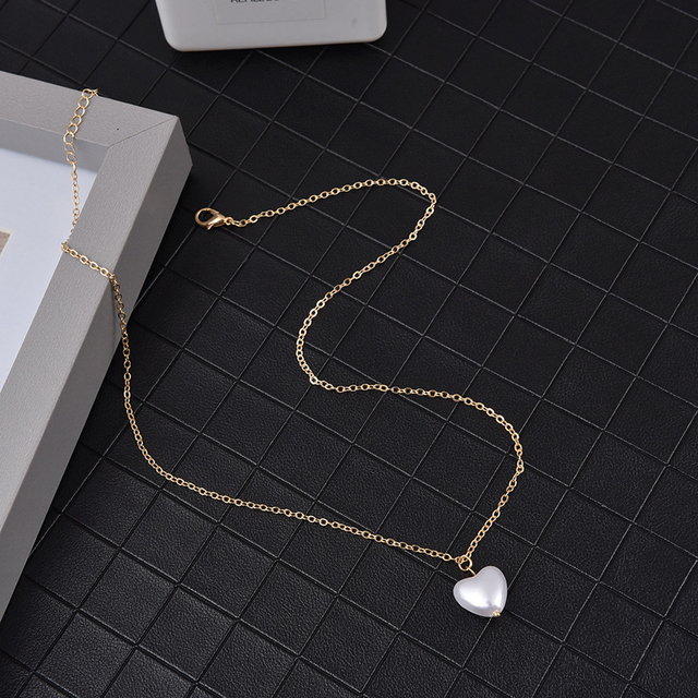 Pearl heart necklace 3