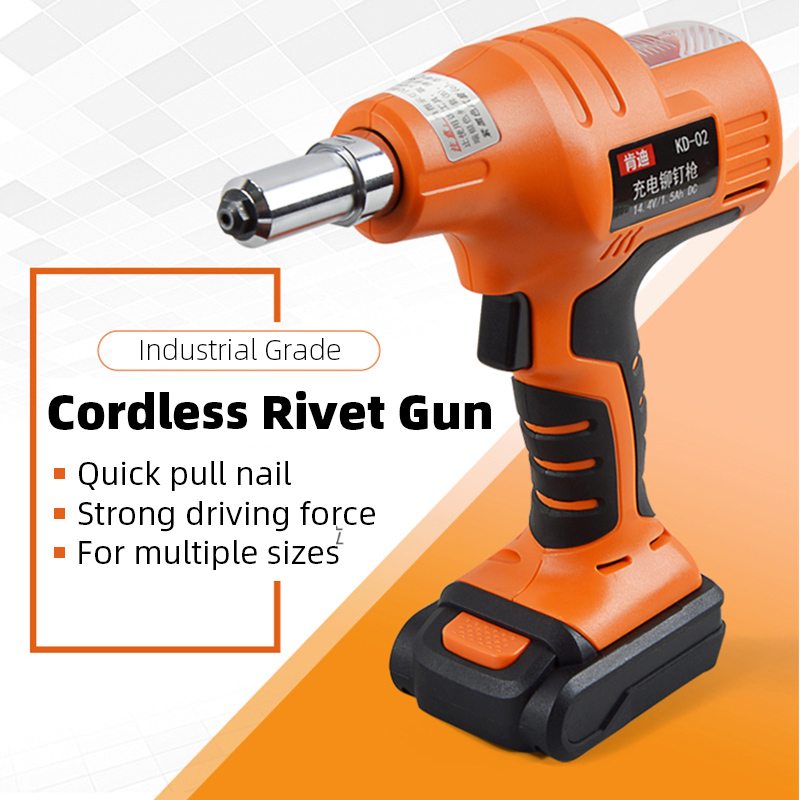 14.4V Cordless Rechargeable Electric Rivet Gun Industrial Riveter Battery Riveting Tool Pull Portable Cordless Rivet Nut Tool