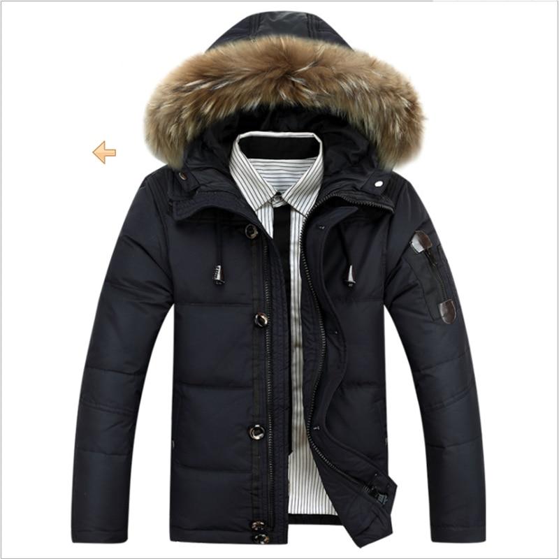Зимние новые утолщенные большие шерстяные однотонные куртки с капюшоном и стоячим воротником теплые мужские молодежные повседневные пальто - Цвет: Black