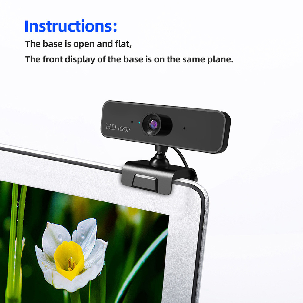 480P/720P/1080P USB Webcam for Video Calling/Recording with Auto White Balance/Color Correction 3
