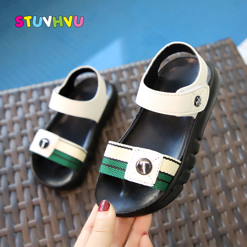 Summer Boys Sandals 2020 New Fashion Baby Toddler Kids Shoes Non-slip Soft Bottom Children's Sandals for Boys Beach Shoes Flats