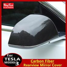 Car Rearview Mirror Cover For Tesla Model 3 Real Carbon fibe