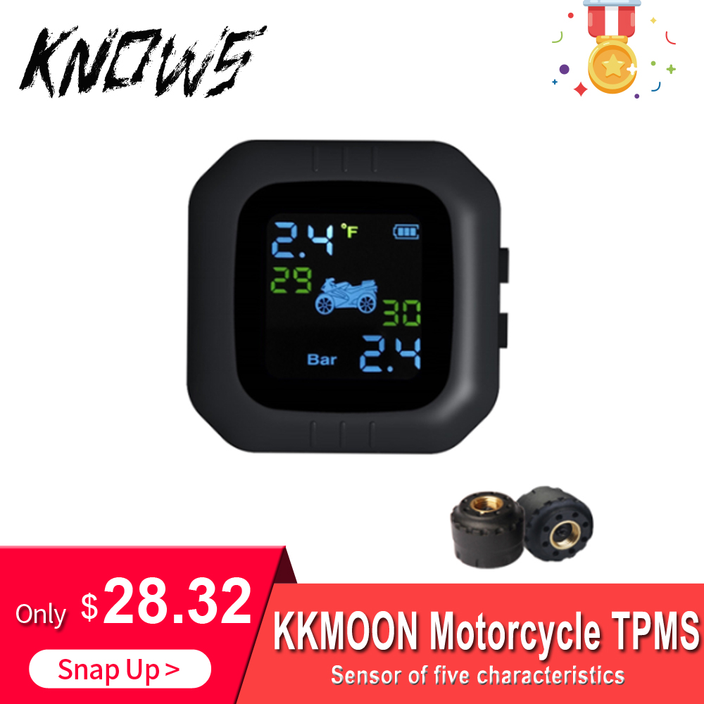 Waterproof Motorcycle Tire Pressure Monitoring System General Wireless TPMS Anti-theft LCD Display Sensor For Motor Tyre Wheel
