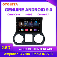 Factory direct sale OTOJETA Android 9.0 Car Multimedia Radio For 2012 2015 JEEP WRANGLER GPS Bluetooth Navigation tape recorder