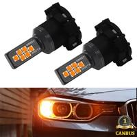 Kampareti Canbus ambra PY24W PSY24W lampadina SAMSUNG LED indicatore di direzione DRL per Range Rover Sport 2010-2012 per BMW E90 E91 E92 E93