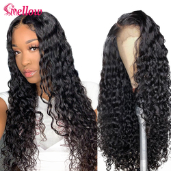 Human Hair Wigs Water Wave Lace Front Closure Wigs Pre Plucked Malaysian Loose Water Wave Lace Front Human Hair Wigs Full End