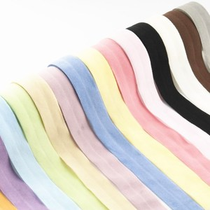 5meters 20mm Fold Over Bands Multicolor Spandex Elastic Ribbon Kids Hair Tie DIY Sewing Lace Trim Waist Band Garment Accessory