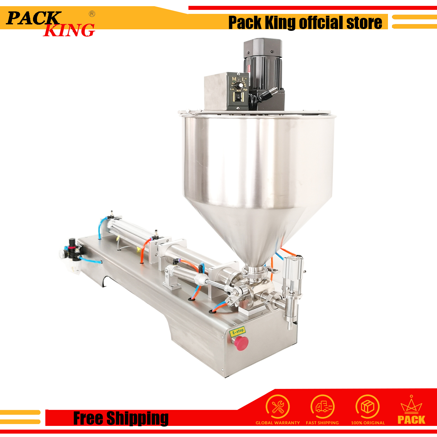 Sauce Chilli Mixing Hopper Filling Machine With Mixer Mixing Hopper Jar Honey Pulp Grease Peanut Butter Chocolate Granule Filler