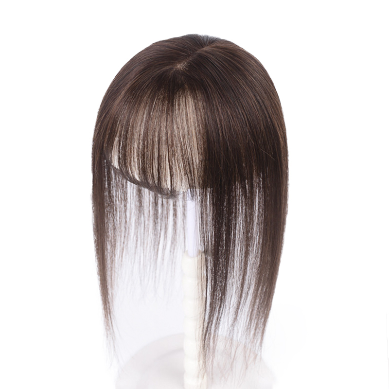 Replacement Film Female Head Hair Cover Cover White Hair Real Hair Top Replacement Air Bangs No Trace Natural Local Wig