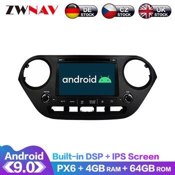 Android 9 IPS Screen PX6 DSP For Hyundai I10 I-10 2013 2014-2018 Car DVD GPS Multimedia Player Head Unit Radio Navi Audio Stereo