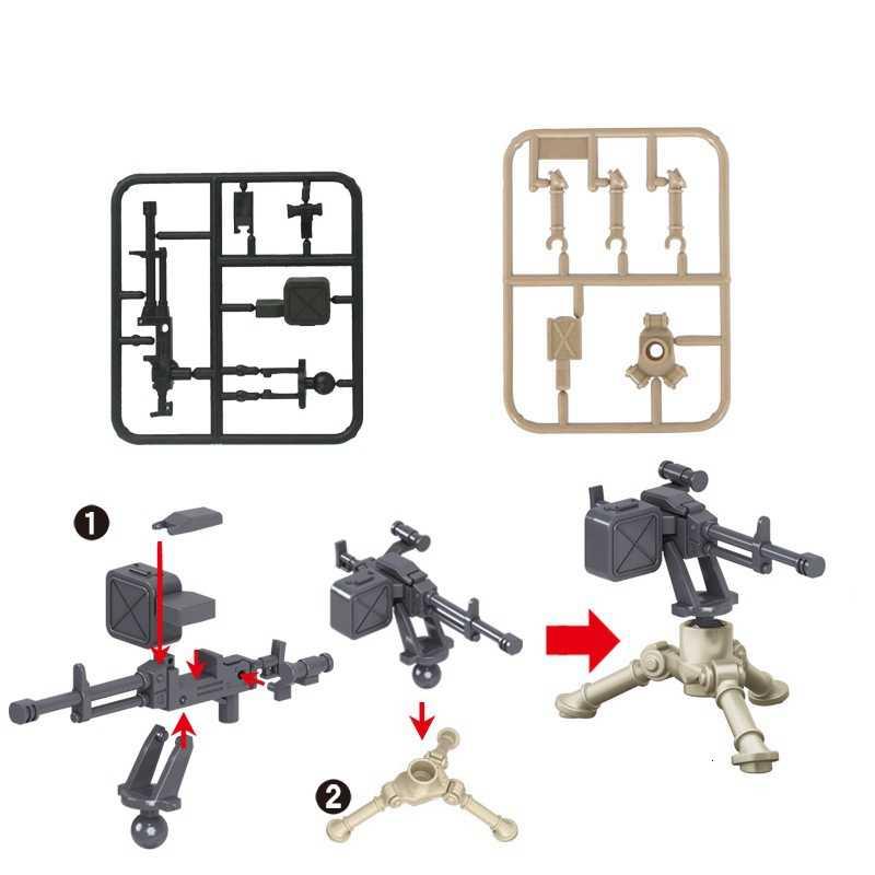 Legoing Militaire SWAT Gun Wapens Pack Army Special Forces Soldaten Bouwstenen MOC Armen Stad Speelgoed Voor Kids Legoings Wapens