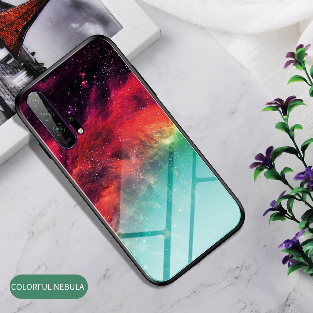H13281d0fb3e8494d86740559f819e154p Phone Case for Huawei Honor 20s 20 Case Marble Tempered Glass Soft Tpu Frame Back Case for Huawei Honor 20s Honor 20 Pro Case