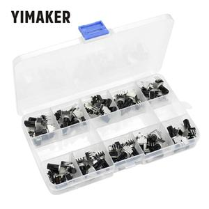 Yimaker 50 peças de boa qualidade rv09 tipo vertical ajustável potenciômetro/resistor variável 1 k 2 k 5k 10 k 20 k 50 k 100 k 200k 500 k 1