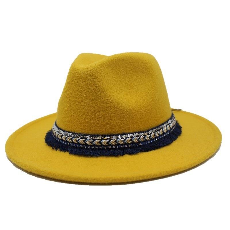 Chapeau Fedora 2018 Nouveau Hiver Hommes Femmes Feutre De Laine Chapeau De Jazz Vintage Panama Cap,