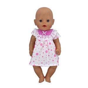 Популярное платье, кукольная одежда, 17 дюймов, 43 см, кукольная одежда, костюм для новорожденных, подарок на день рождения