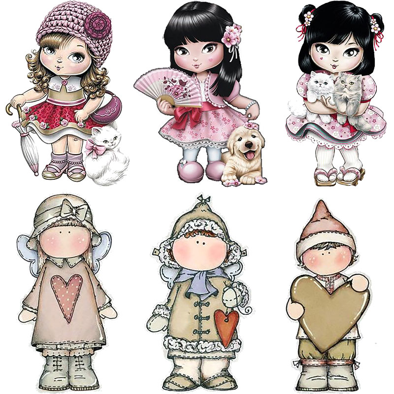 Cute Little Doll Girl Metal Cutting Dies New 2019 Stamps Stencil For Birthday Card Making Photo Album Diy Paper Craft Metal-dies