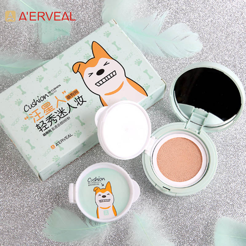 A'ERVEAL Brand Air Cushion BB Cream Concealer Moisture Isolation Waterproof Foundation Cream Beauty Makeup