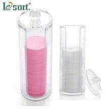 Round cotton pad transparent storage box Acrylic Organizer Box Makeup Organiser Cotton Pad Holder