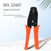 Crimping pliers non-insulated terminals and connectors ratchet crimping tool pliers hand tools WX-16WF