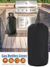 À prova dwaterproof água preto escuro capa do tanque de propano com drawstrings se encaixa 20lb tanque do cilindro tampas de garrafa de gás