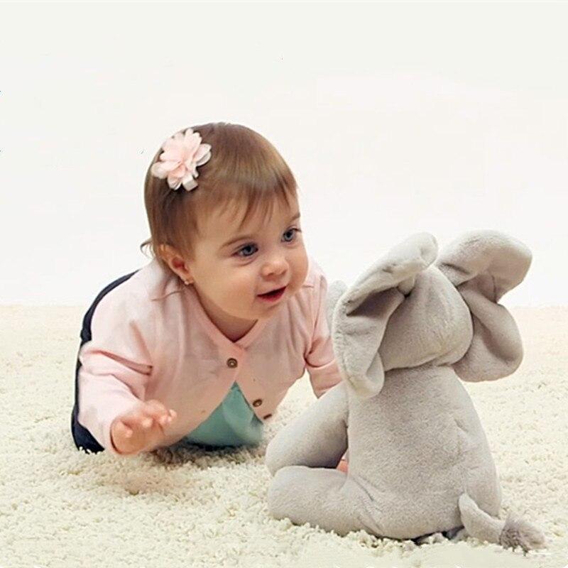 bebê elefante esconder e procurar gato calmante