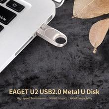 EAGET U2 USB-Stick 64GB Metall U Disk USB 2,0 Tragbare High Speed Wasserdicht Stoßfest Große Kapazität U disk für PC Laptop