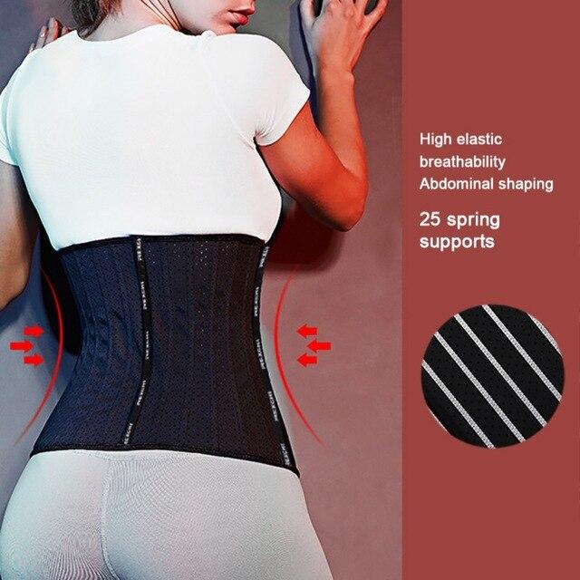 Women Waist Cincher Trimmer Back Support Sweat Crazier Slimming Body Shaper Waist Trainer Belt For Weight Loss Fitness Exercise 1