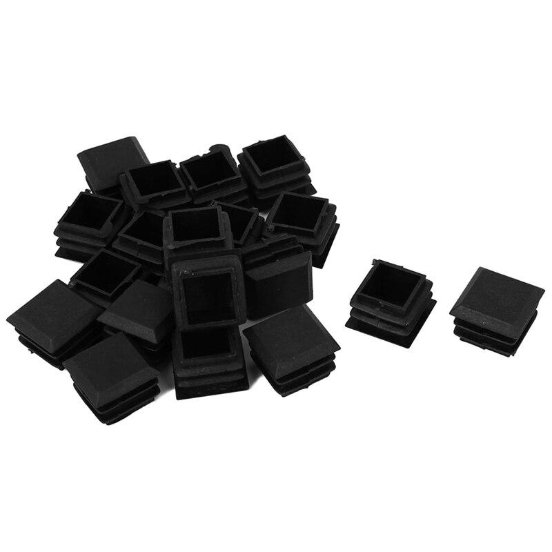 20 Pcs Plastic Office Chair Table Leg Glide Cap Tubing Pipe Insert 25mm X 25mm
