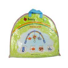 Infant Baby Stroller/Crib Hanging Toys Lovely Soft Plush Arch Rattles Ring Bell 67JC