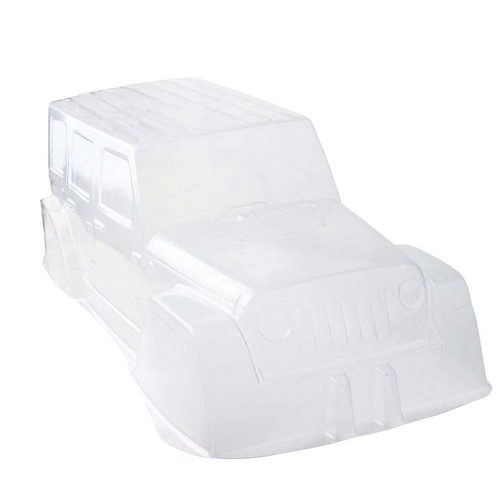 PVC Climbing Car Body Shell Transparent Hard 313mm wheelbase Axle Base For 1:10 Scale RC Crawler Car SCX10 D90 Accessories