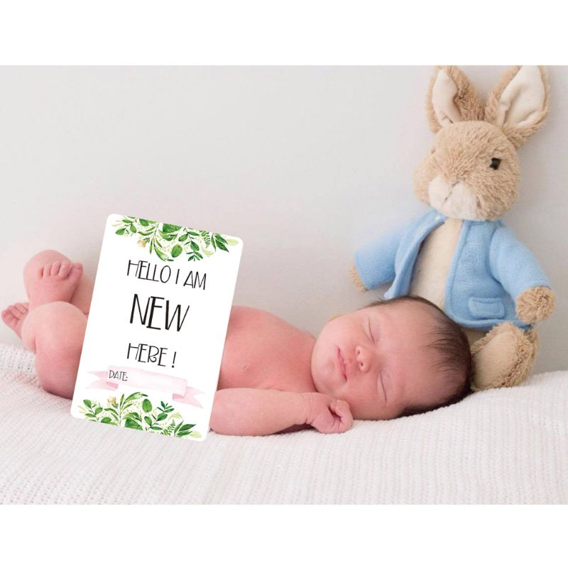 Baby Monthly Cards Sticker Photography Photo Age Cards Baby Shower Registry Gift