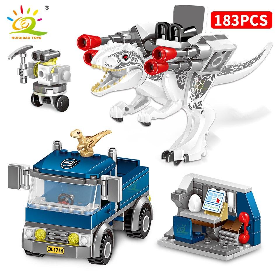 Купить huiqibao игрушки 714 шт динозавры серии фильмов строительные