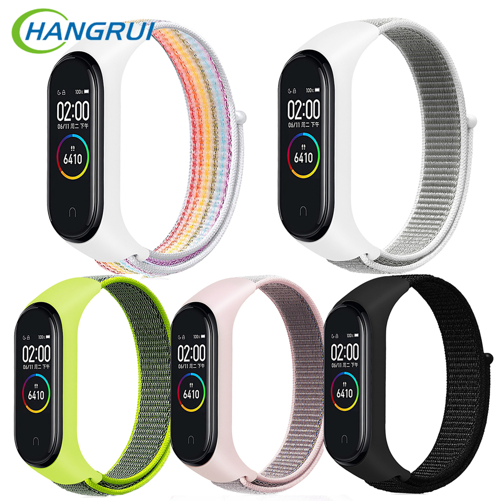 Nylon Strap For Xiaomi Band 4 3 Replaceable Bracelet Mi Band 4 3 Breathable Bracelet For Xiaomi Band 4 Sports Wristband Strap