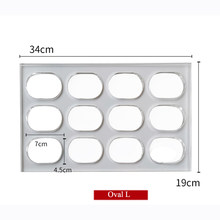 Clear Polycarbonate Dacquoise Cake Mold Oval Round Sharped Dakovaz Macaron Mould Cake Decorating Tool Bakeware