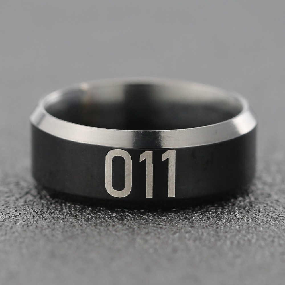 זר דברים טבעת עשר 011 חברים לא שקר אני מאמין מכתב שחור נירוסטה טלוויזיה סדרת להראות תכשיטי גברים סיטונאי