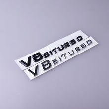 3D ABS Car sticker V8 Biturbo logo Emblem sticker Auto Rear /side car-styling stickers for bmw VW Hyundai mazda Chevrolet Skoda(China)