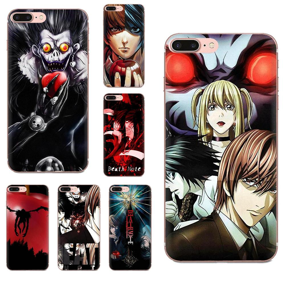 Soft Phone Coque For <font><b>Huawei</b></font> Honor Mate <font><b>Nova</b></font> Note 20 20s 30 5 5I <font><b>5T</b></font> 6 7I 7C 8A 8X 9X 10 Pro Lite Play Anime Death Note image