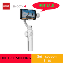цена на Zhiyun Smooth 4 3-Axis Handheld Smartphone Gimbal Stabilizer for Samsung S9 S8 iPhone 11 Pro Max XS XR X 8P 8  for Action Cam