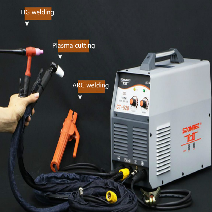 220 В CT-520 Многофункциональный дуговой сварщик сварочный аппарат с TIG сварка плазма плазменная резка резак функции