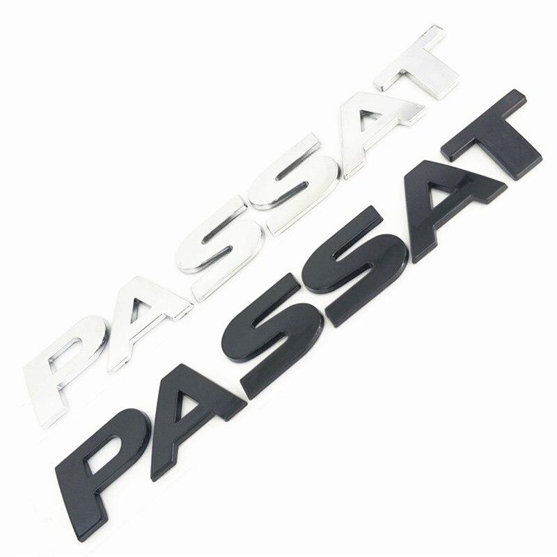 Черный или серебристый 3D PASSAT Автомобильный задний бампер багажник Английский алфавит буквы эмблема наклейка значок наклейки логотип для а...
