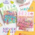 Наклейки с фруктами и надписями 40 шт., альбом, дневник, этикетка, материал для скрапбукинга, «сделай сам», канцелярские принадлежности, милая...