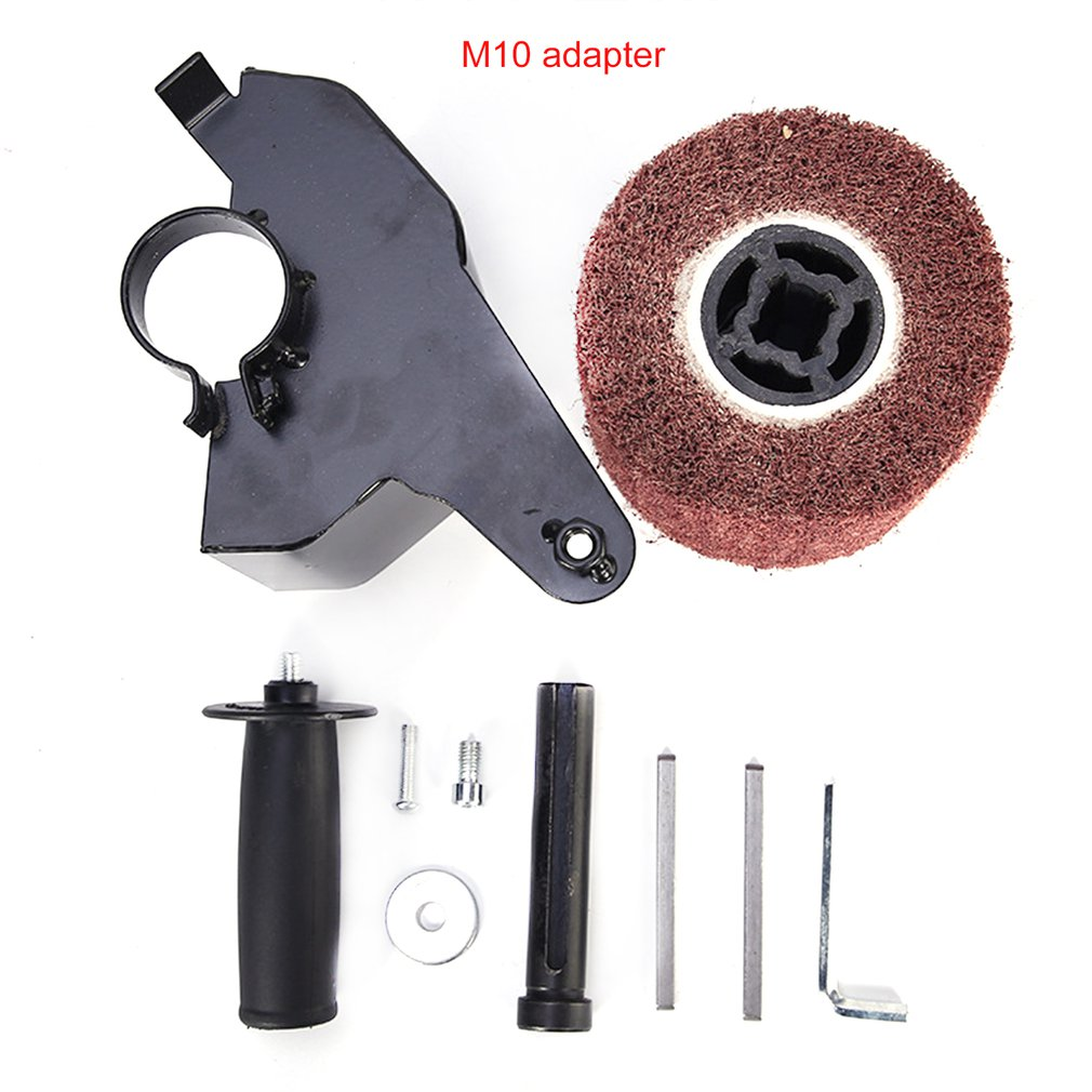 Angle Grinder Attachment Burnishing Wheel Handle Angle Grinder Burnishing Polishing Machine Set Metal Steel Wood Sander