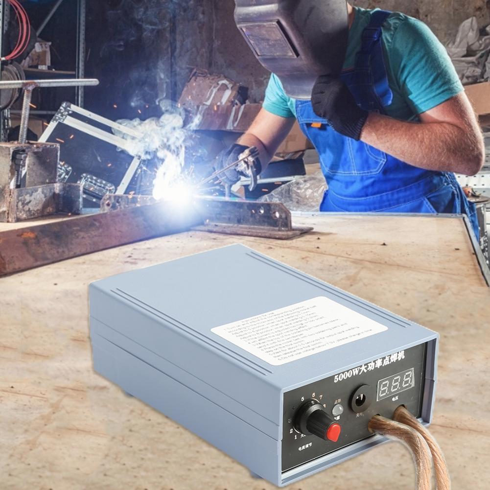 Soldering Spot Welding 18650 Battery Portable Spotwelder Kit Adjustable 5000W Spotwelding Machine Tool