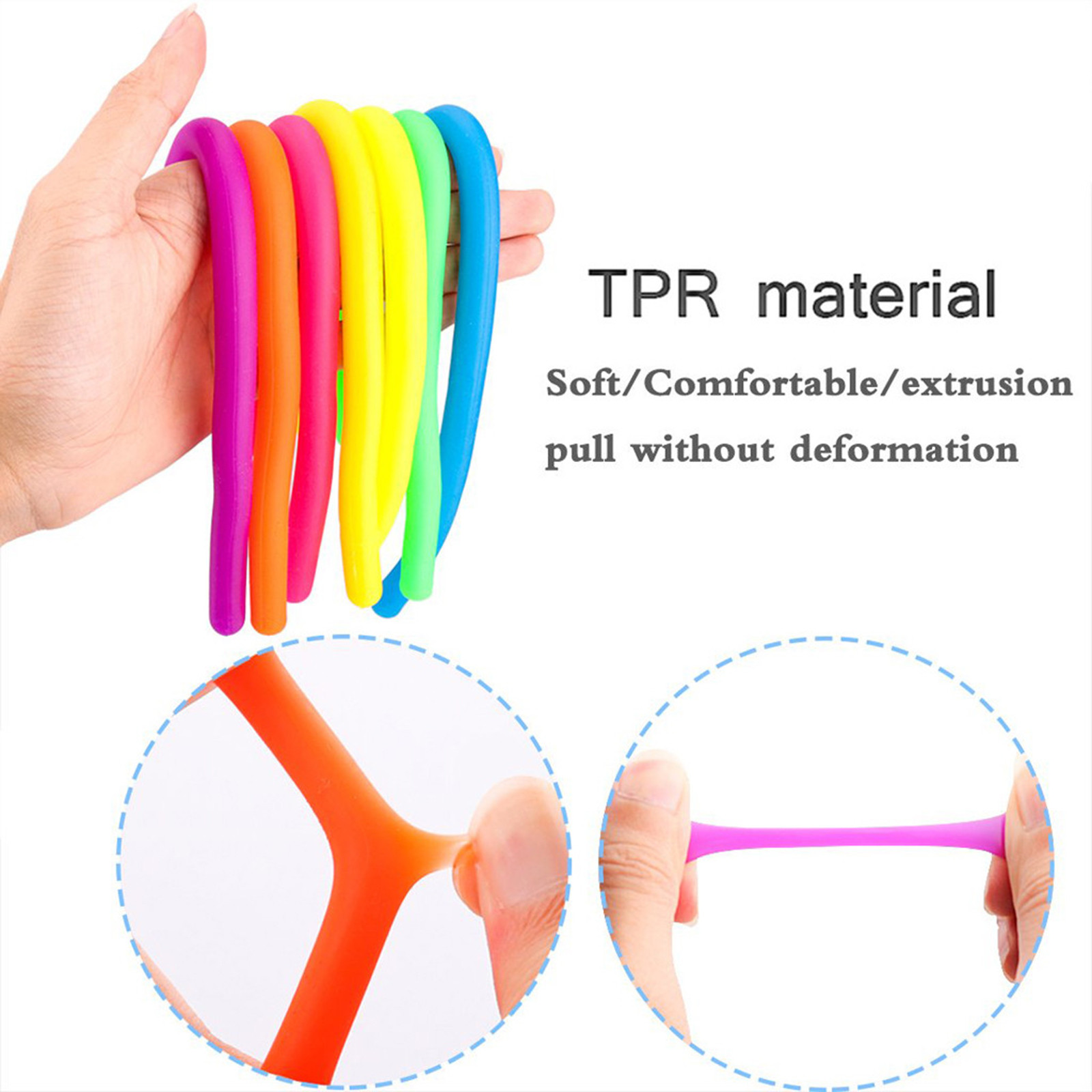 Figet Toys Fidget-Toy Squeeze-Noodles Reliever-Stress Tangle Elastic img2