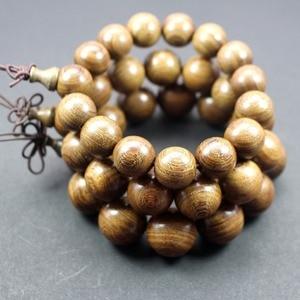Image 3 - Großhandel natürliche Sandelholz Vintage mala perlen armbänder Buddhistischen Rosenkranz Gebet Yoga Meditation Glück Armband für Männer Frauen