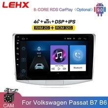LEHX 2Din 10 بوصة أندرويد 9.0 سيارة راديو مشغل وسائط متعددة ل VW Volkswagen باسات B7 B6/Magotan Autoradio كاميرا DVR